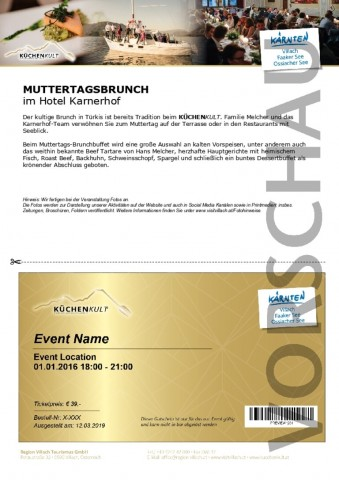MUTTERTAGSBRUNCH IM HOTEL KARNERHOF